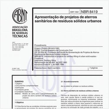 NBR8419 de 04/1992