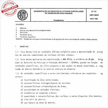 NBR8849 de 04/1985