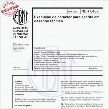 NBR8402 de 03/1994