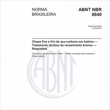 NBR8640 de 08/2016