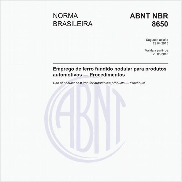 NBR8650 de 04/2015