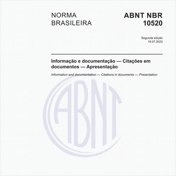 Informação e documentação - Citações em documentos - Apresentação