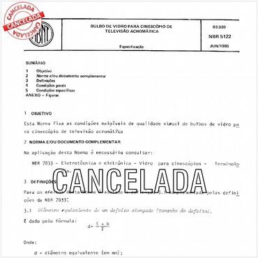 NBR5122 de 06/1985