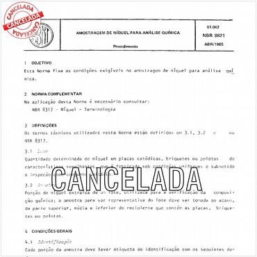 NBR8821 de 04/1985