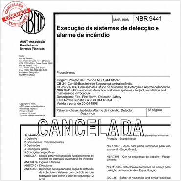 NBR9441 de 03/1998