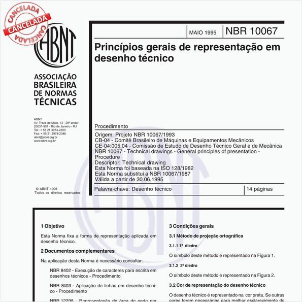 Princípios gerais de representação em desenho técnico - Procedimento