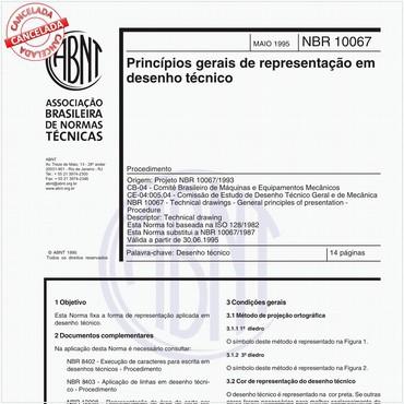 NBR10067 de 05/1995