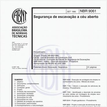 NBR9061 de 09/1985