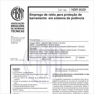 NBR9029 de 09/1985