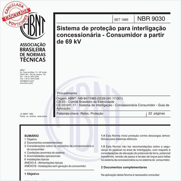 NBR9030 de 10/2012