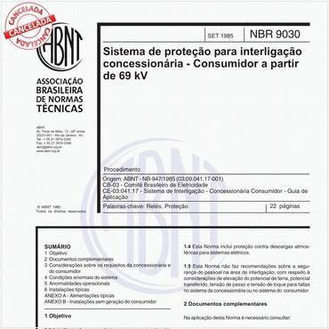 NBR9030 de 09/1985