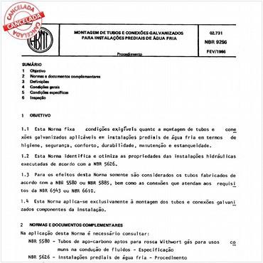 NBR9256 de 02/1986