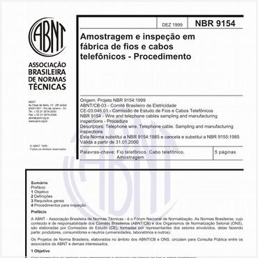 NBR9154 de 12/1999