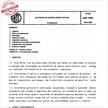 NBR10083 de 11/1987