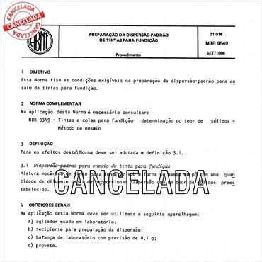 NBR9549 de 09/1986