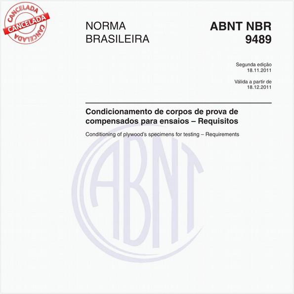 Condicionamento de corpos de prova de compensados para ensaios – Requisitos