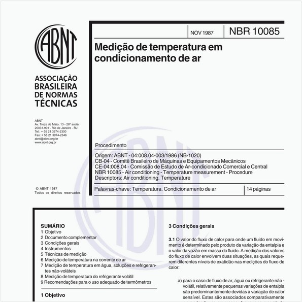 Medição de temperatura em condicionamento de ar - Procedimento