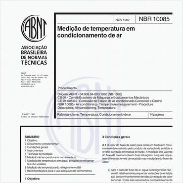 NBR10085 de 11/1987