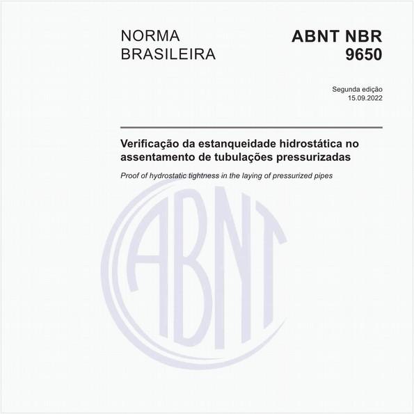 Verificação da estanqueidade no assentamento de adutoras e redes de água - Procedimento