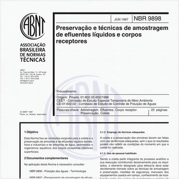 NBR9898 de 06/1987