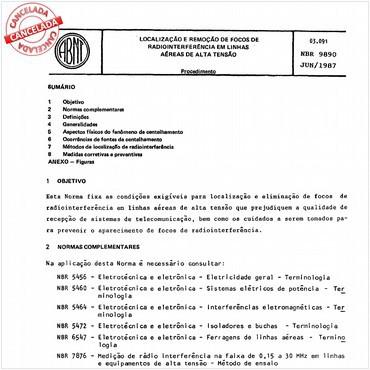 NBR9890 de 06/1987