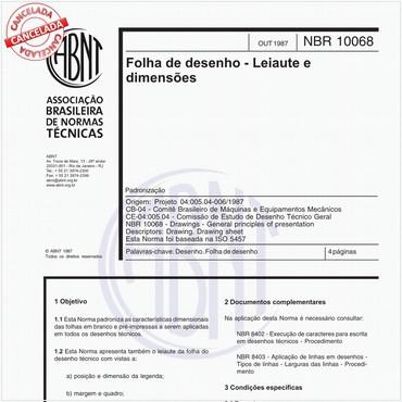 NBR10068 de 10/1987