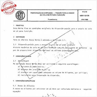 NBR10179 de 01/1988
