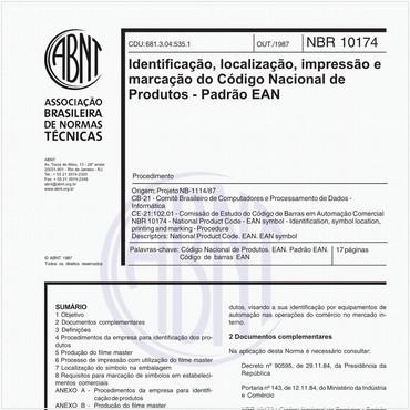 NBR10174 de 01/1988