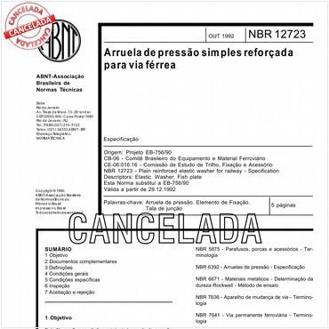 NBR12723 de 10/1992
