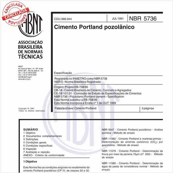 Cimento Portland pozolânico