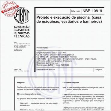 NBR10819 de 11/1989