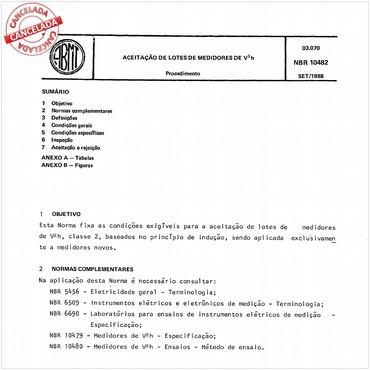 NBR10482 de 09/1988