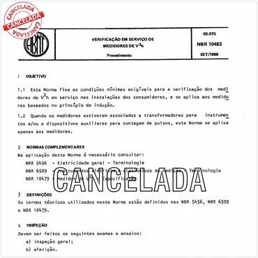 NBR10483 de 09/1988