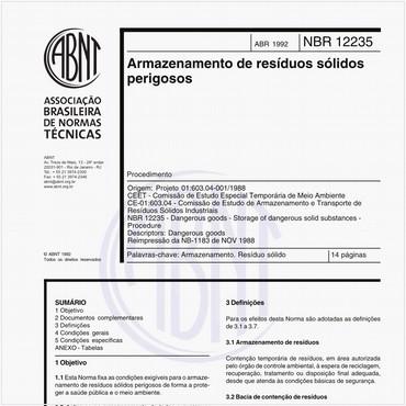 NBR12235 de 04/1992