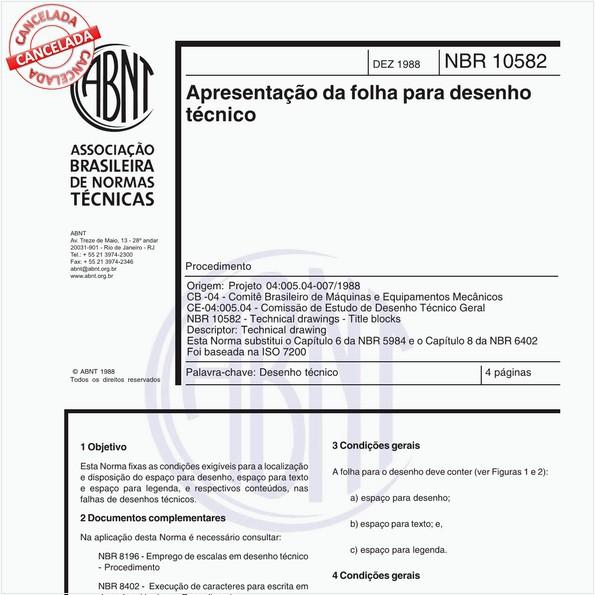 Apresentação da folha para desenho técnico - Procedimento