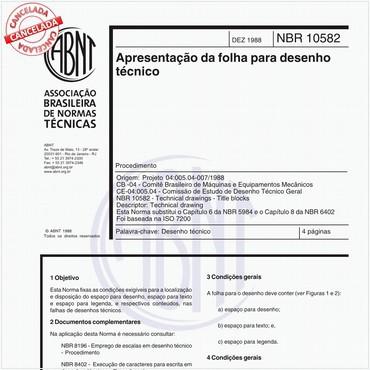 NBR10582 de 12/1988