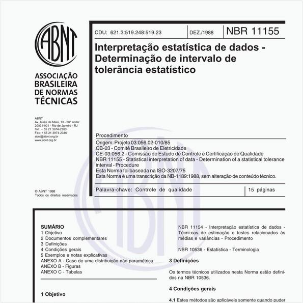 NBR11155 de 12/1988