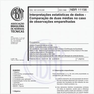NBR11156 de 12/1988