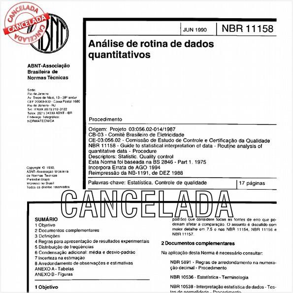NBR11158 de 10/2012