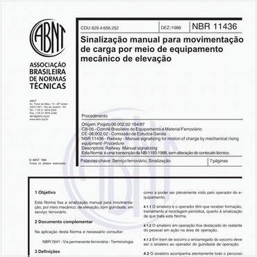 NBR11436 de 12/1988