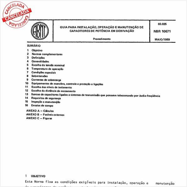 Guia para instalação, operação e manutenção de capacitores de potência em derivação
