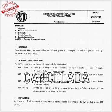 NBR10742 de 09/1989