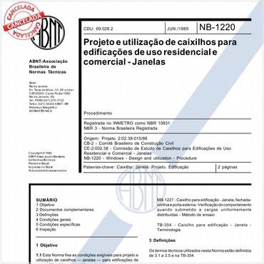 NBR10831 de 06/1989