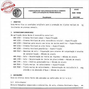 NBR10832 de 11/1989