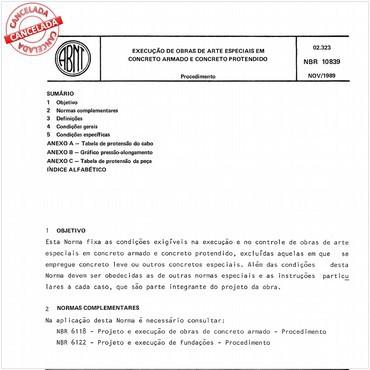 NBR10839 de 11/1989