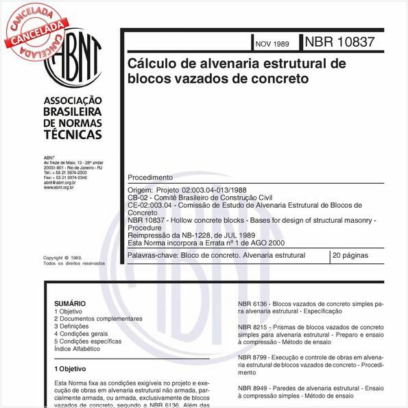 NBR10837 de 07/2011