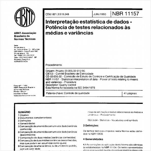 NBR11157 de 06/1990