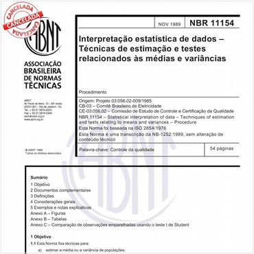 NBR11154 de 11/1989