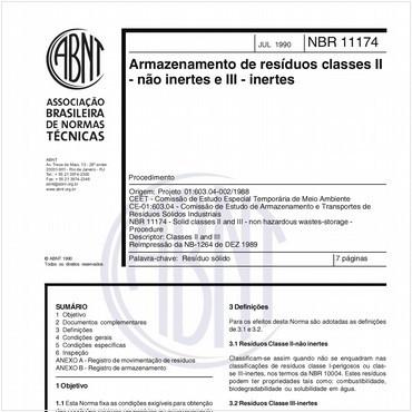 NBR11174 de 07/1990