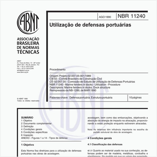 NBR11240 de 08/1990
